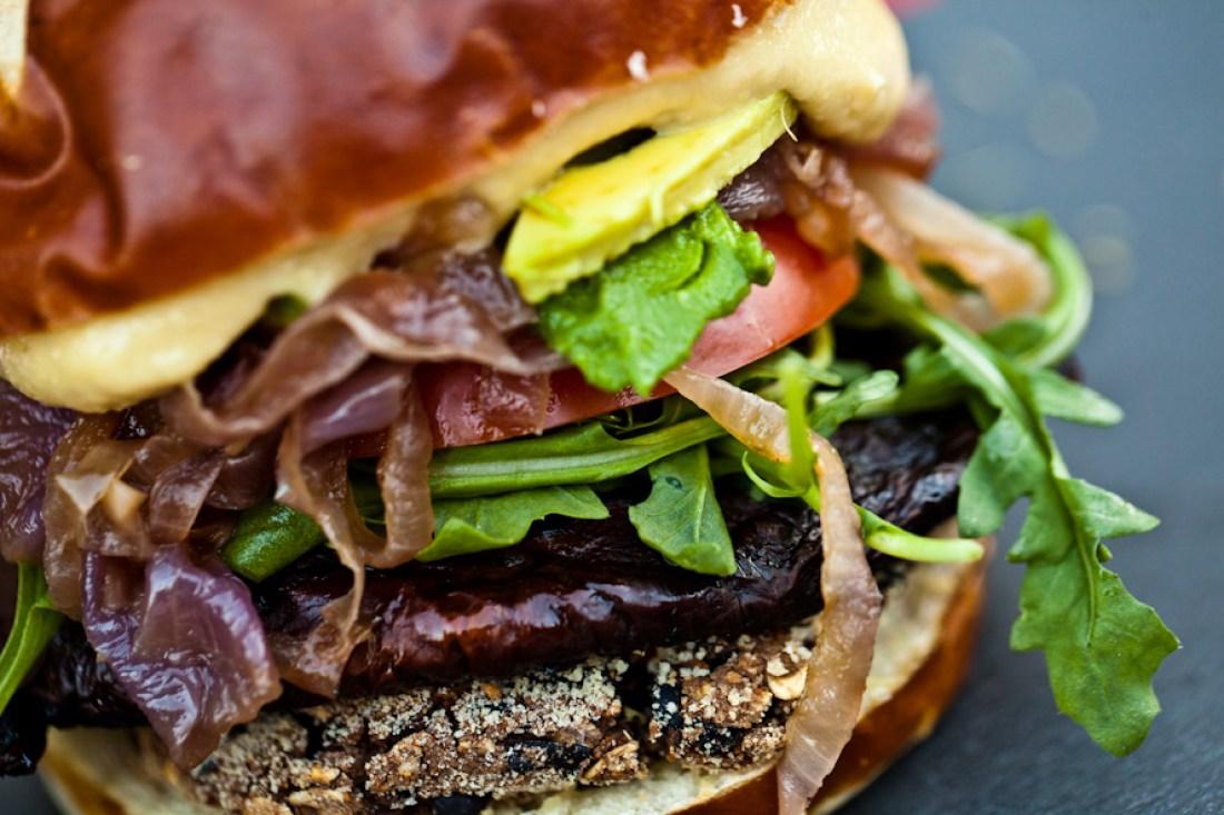 Black Bean Portobello Burgers
