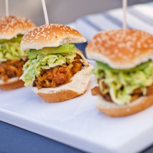 Carolina-Style BBQ Jackfruit Sliders with Apple Slaw