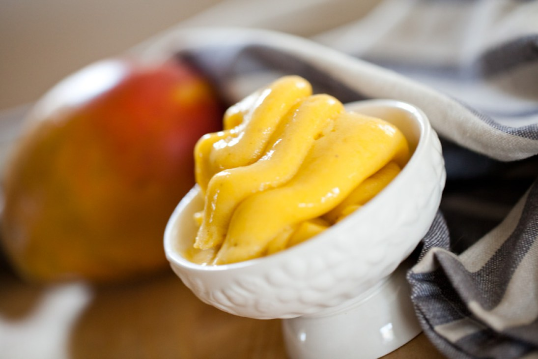 Dairy-free Mango Soft Serve