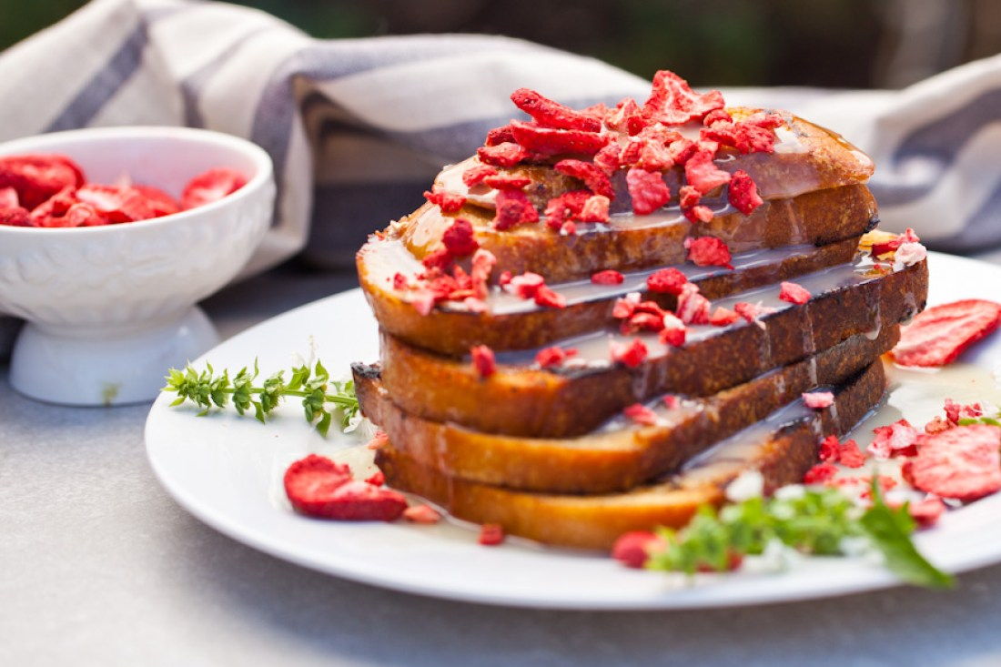 Strawberries & Cream Vegan French Toast