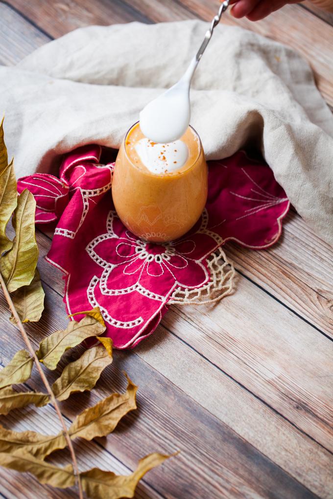 DELICIOUS Sweet Potato Egg Nog   Healthy Vegan + Refined Sugar-free  