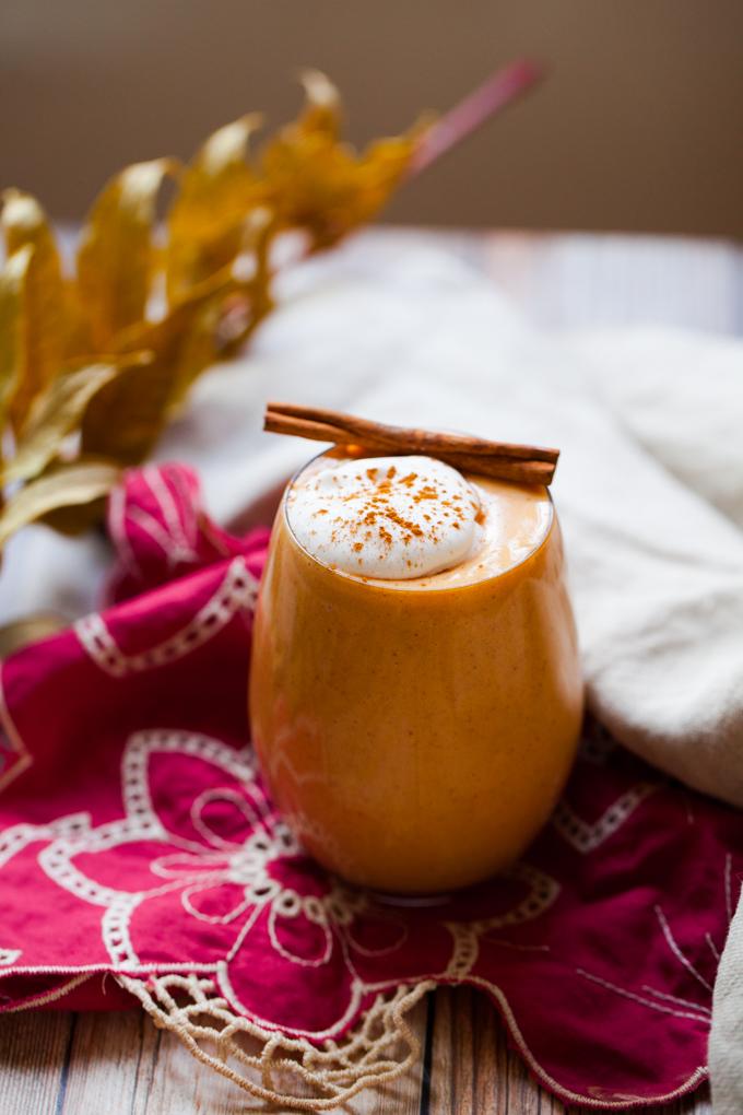 DELICIOUS Vegan Sweet Potato Egg Nog   Healthy + Refined Sugar-free  