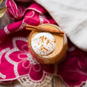 DELICIOUS Sweet Potato Egg Nog | Healthy Vegan + Refined Sugar-free |