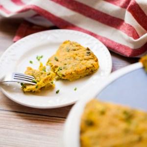 Broccoli Leek Frittata (Vegan + GF)