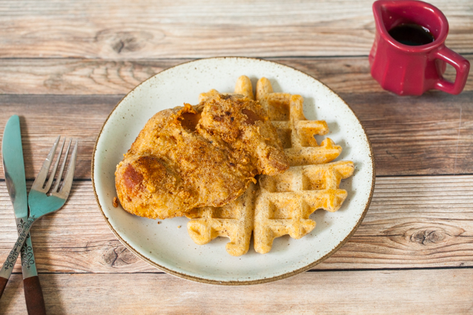 CRISPY delicious Vegan Chik'n and Waffles | Sweet and Savory, Hearty and Filling | The PERFECT Vegan Southern Brunch recipe