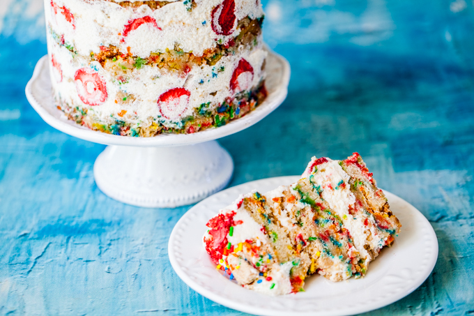 The ULTIMATE Vegan Funfetti Cake   Fun, colorful, and delicious   Dairy-free, plant-based, and kid-friendly   Perfect for any party!