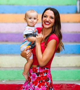 Megan Sadd, vegan chef and author with her daughter, Lily Knight