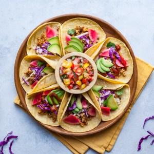 Smoky Tempeh + Lentil Tacos (Vegan + Gluten-free)