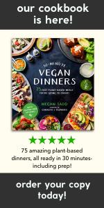 30 Minute Vegan Dinners Cookbook by Megan Sadd #vegan #plantbased #cookbook