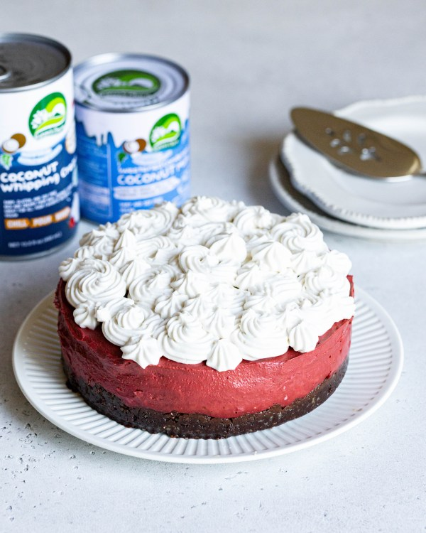 No-Bake Vegan Red Velvet Cheesecake | Easy healthier dessert recipe