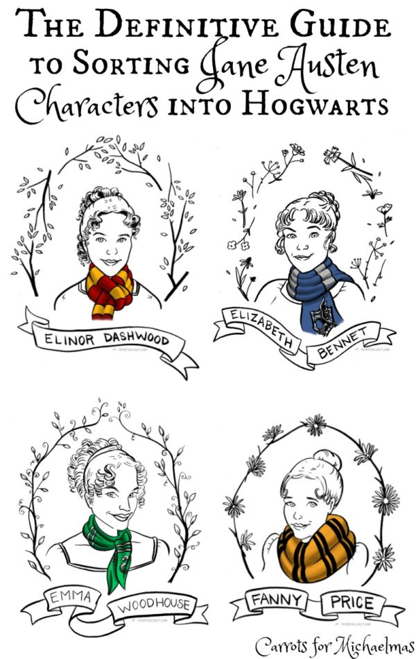 Sorting Jane Austen Characters Into Hogwarts Houses: The