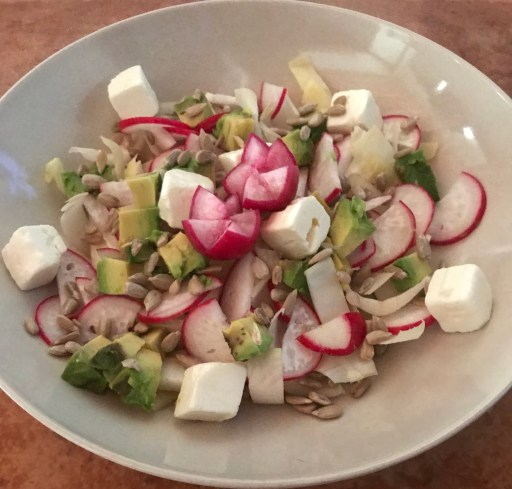 Gluten-free Endive Salad with Radish & Avocado