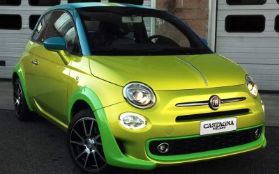 Fiat – 500 Yellow Chrome