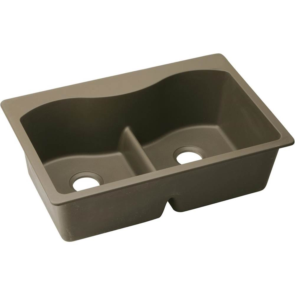 brown kitchen sink package elkay sinks transitional mocha carr plumbing supply drop in item elglb3322mc0