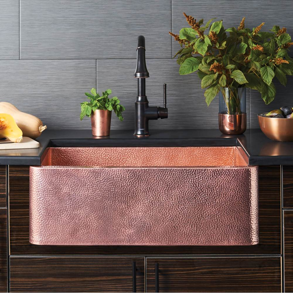 copper kitchen sink cabinet ratings native trails sinks tones farmhouse item cpk494
