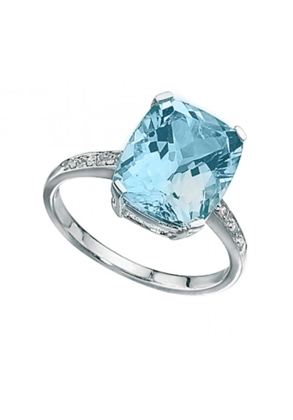 Other Gemstone Rings Blue Topaz And Diamond Ring