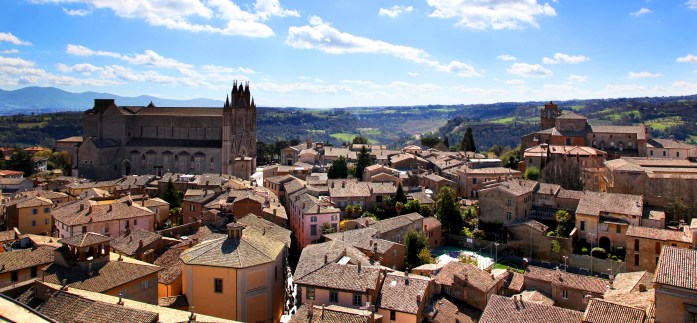View 2 from the top of Torre Del Moro in Orvieto, Italy