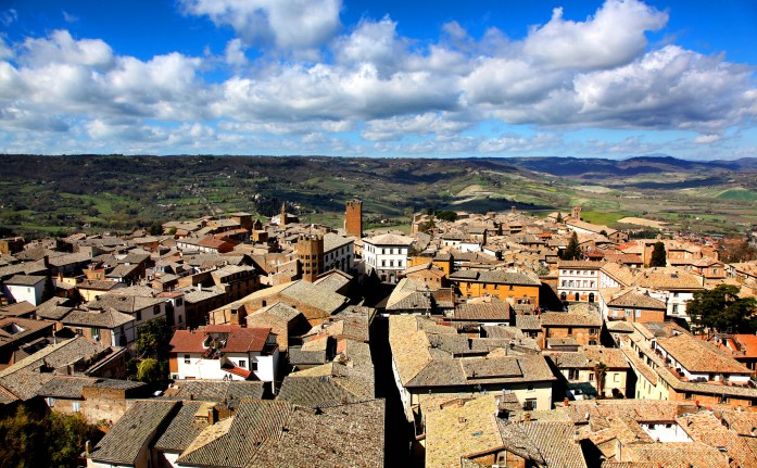 View 1 from the top of Torre Del Moro in Orvieto, Italy