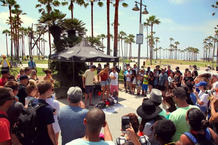 Venice Beach Boardwalk Street Performer
