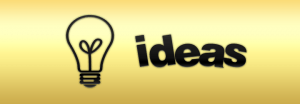 light bulb with word ideas