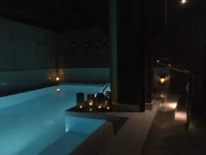 moody lit steam hotel indoor pool