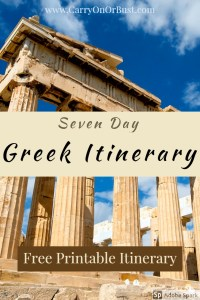 greece 7 days itinerary - image of Parthenon in athens greece