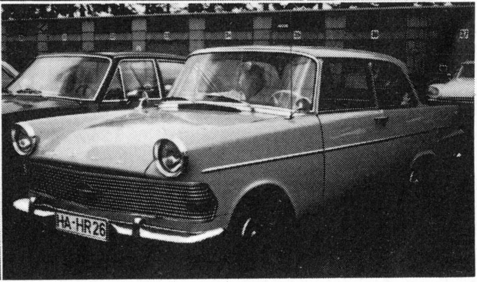 Startnummer 42 – Opel Olympia Rekord 1961