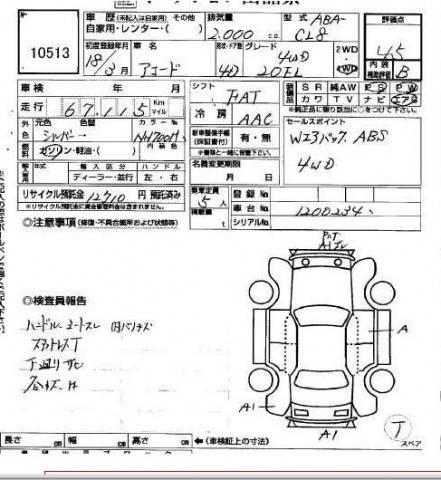2006 Honda Accord specs, Engine size 2.0, Fuel type