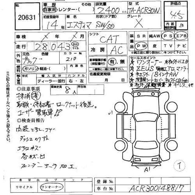 2001 Toyota Estima specs: mpg, towing capacity, size, photos