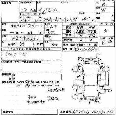 2005 Toyota Ipsum Pictures