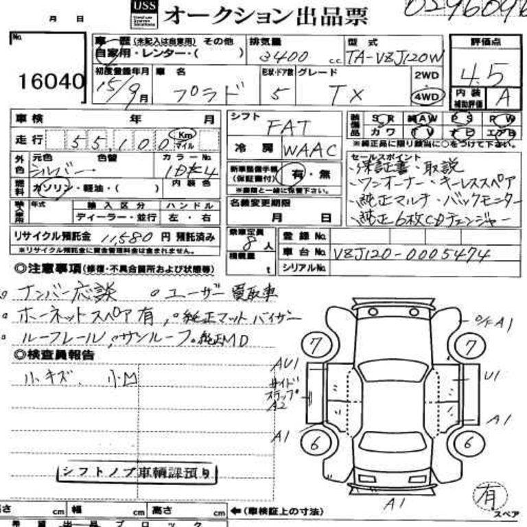 2003 Toyota LAND Cruiser Prado specs: mpg, towing capacity