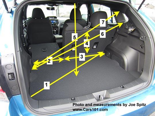 2017 Subaru Forester Interior Dimensions