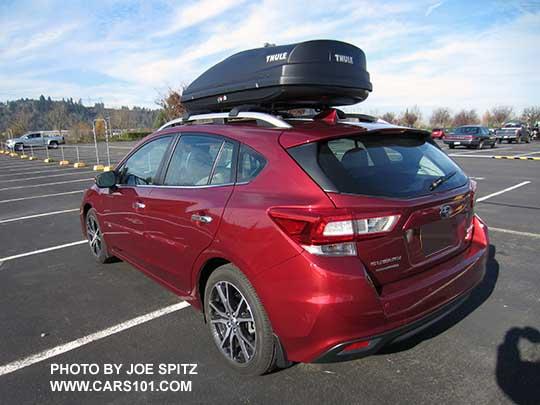 2018 Subaru Impreza Hatchback Cargo Dimensions