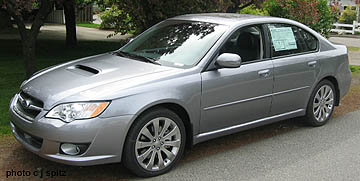 2008 2009 Subaru Legacy Photographs Of The Outside Of The