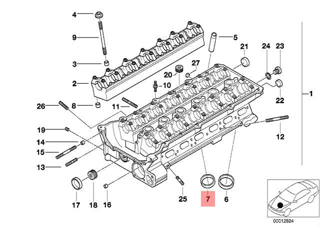 Genuine BMW E36 E38 E39 Cylinder Head Valve Seat Ring