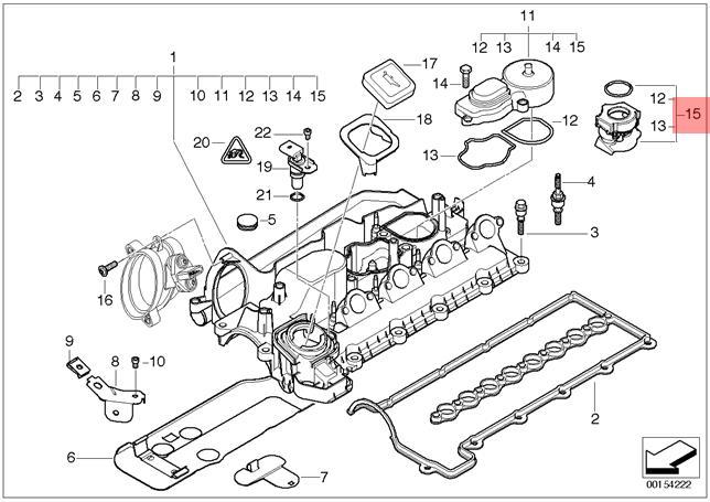 Genuine BMW E46 E60 E61 Crankcase Oil Breather Filter OEM