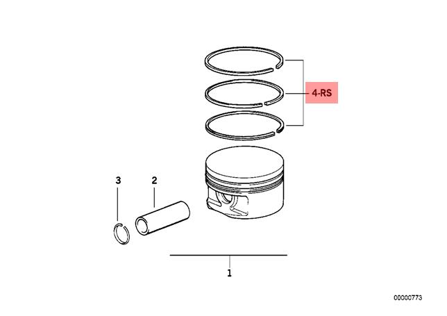Genuine BMW 3 5 Series E34 E36 M50 Repair Kit 1x Piston