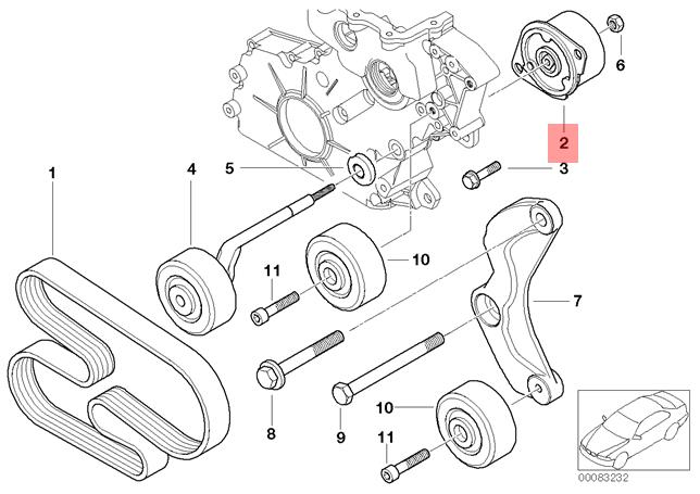 Genuine BMW E38 E39 E46 E53 Sedan SUV Wagon Belt Tensioner