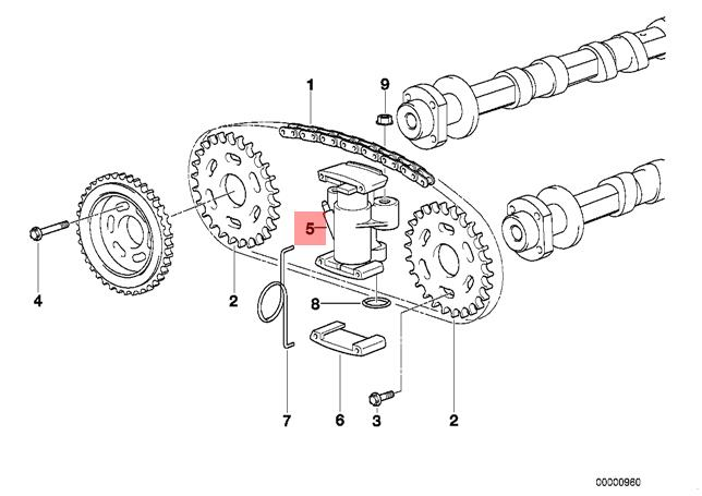 Genuine BMW E31 E38 E39 E52 E53 Coupe Timing Chain