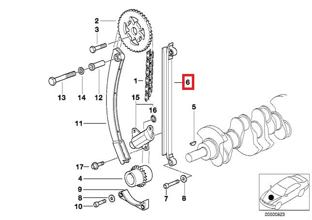 Genuine BMW E34 E36 E46 Z3 Cabrio Compact Coupe Guide rail