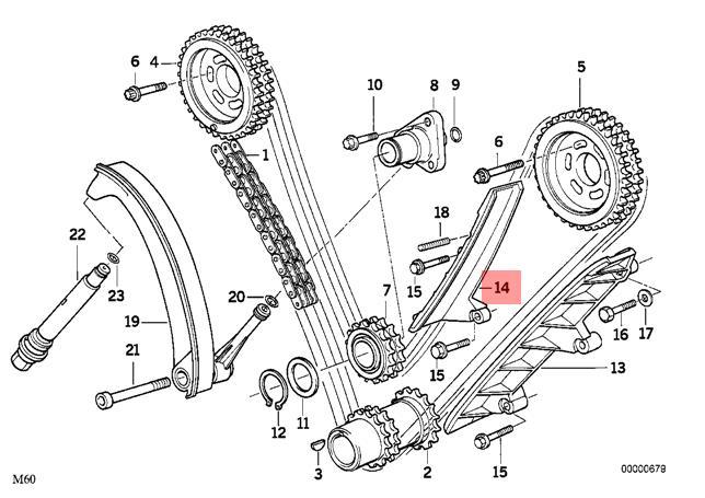Genuine BMW E31 E32 E34 E38 Coupe Sedan Wagon Guide rail