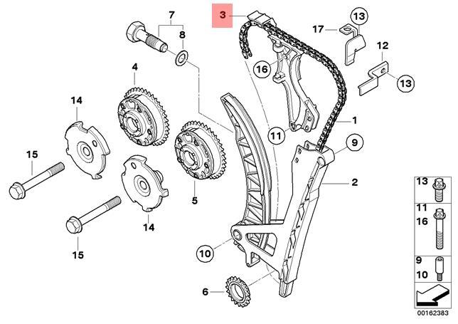 Genuine BMW E46 E60N E81 E82 E83 E83N Timing Chain Guide