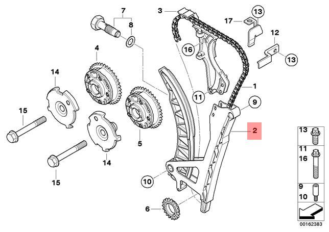 Genuine BMW E46 E60N E81 E82 Chain Tensioner and guide