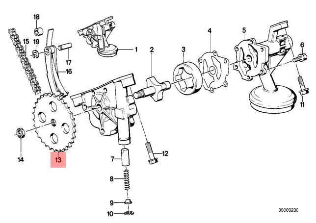 Genuine BMW CMSP E12 E23 E24 E28 E3 E30 E34 Oil Pump