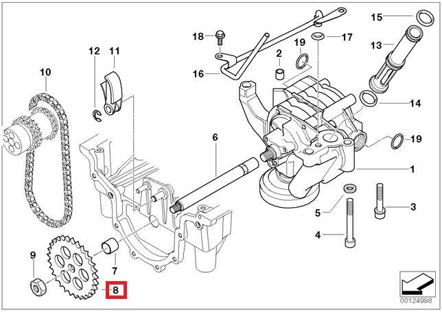 Genuine BMW E31 E32 E34 E38 E39 E52 E53 SUV Oil Pump