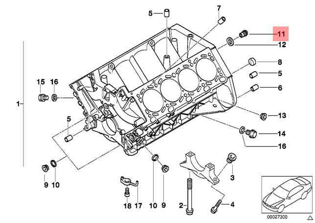 Genuine BMW E31 E38 E39 E52 X5 E53 Control Valve With O