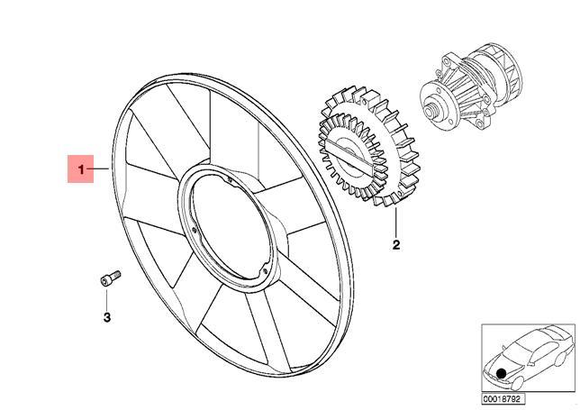 Genuine BMW E38 E39 E46 E53 E65 Radiator Cooling Fan 420mm
