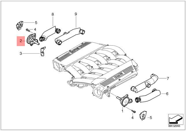Genuine BMW E65 E66 E67 Engine Crank Crankcase Vent Valve