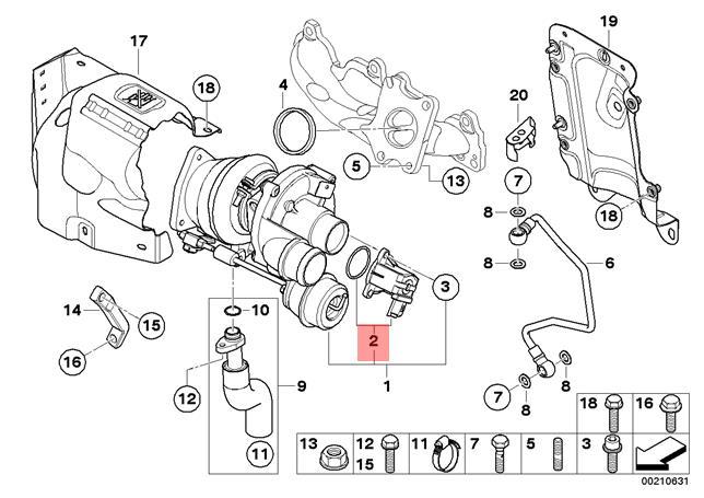 Genuine MINI R55 R56 Electric Turbo Diverter Valve OEM