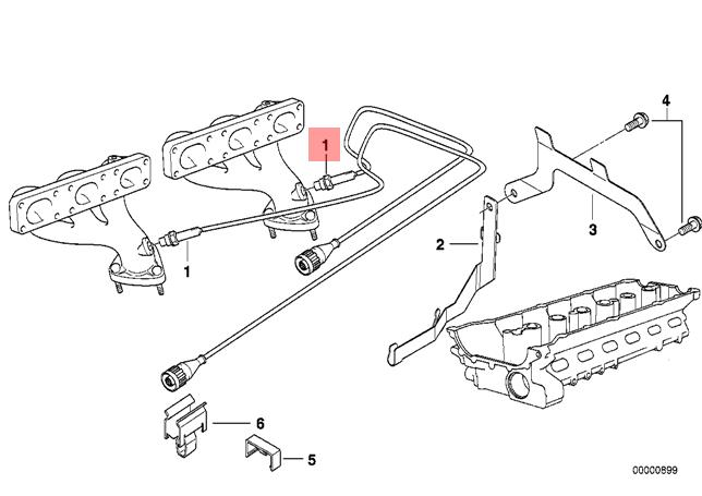 Genuine BMW E36 E38 E39 Coupe Lambda Probe Oxygen Sensor